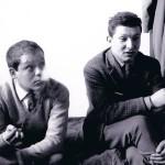 Piero Manzoni e Angelo Verga  (foto di Emilio Colella con dedica a Giuseppe Zecchillo)