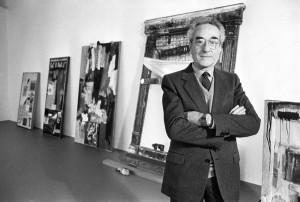Giuseppe Panza e alcune opere della collezione
