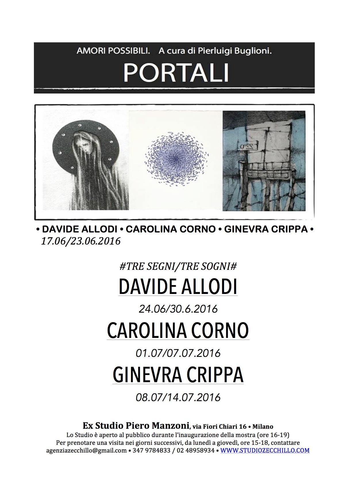 DAVIDE ALLODI • CAROLINA CORNO • GINEVRA CRIPPA
