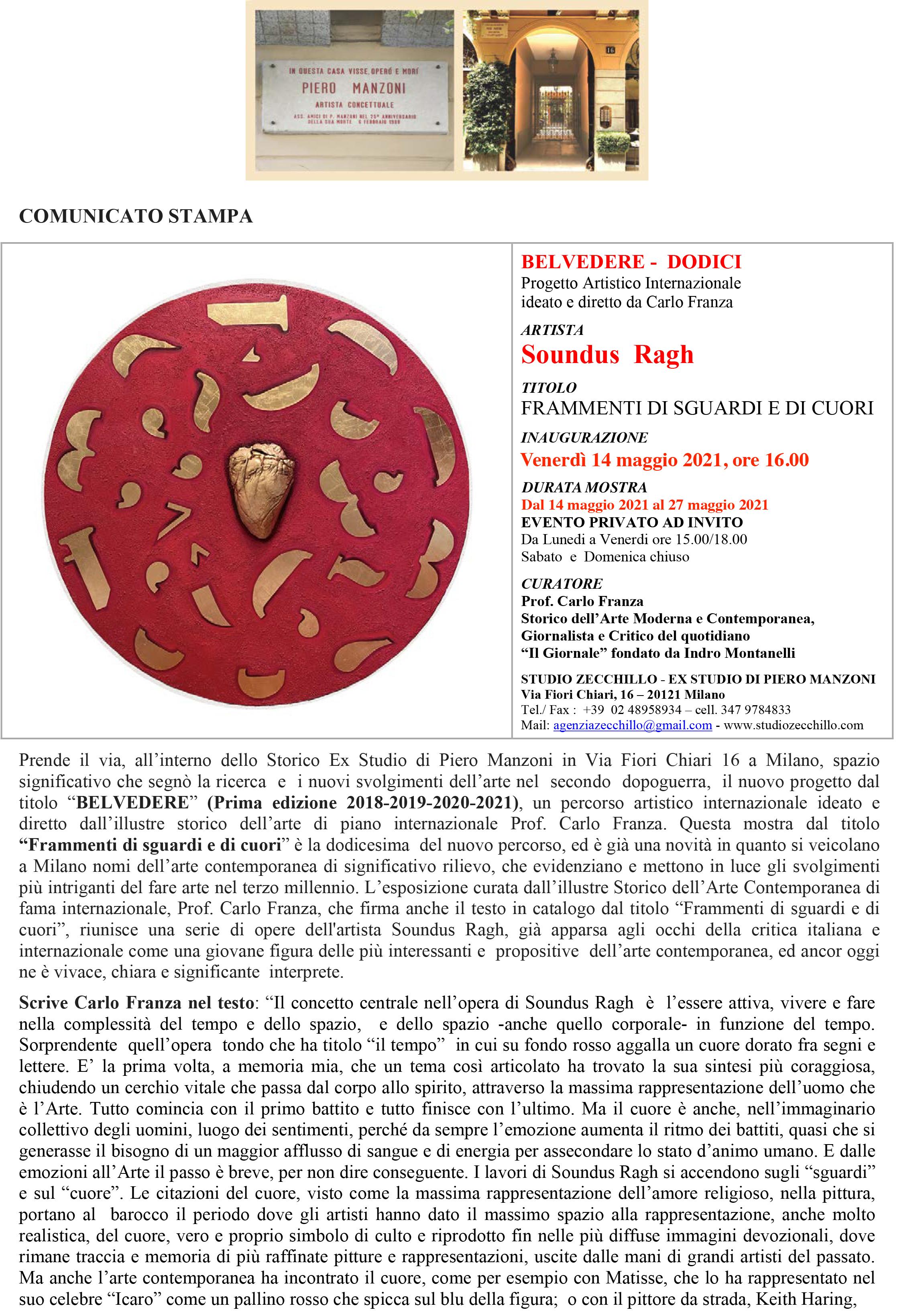 COMUNICATO STAMPA MOSTRA SOUNDUS RAGH, Ex Studio Piero Manzoni aprile 2021-1
