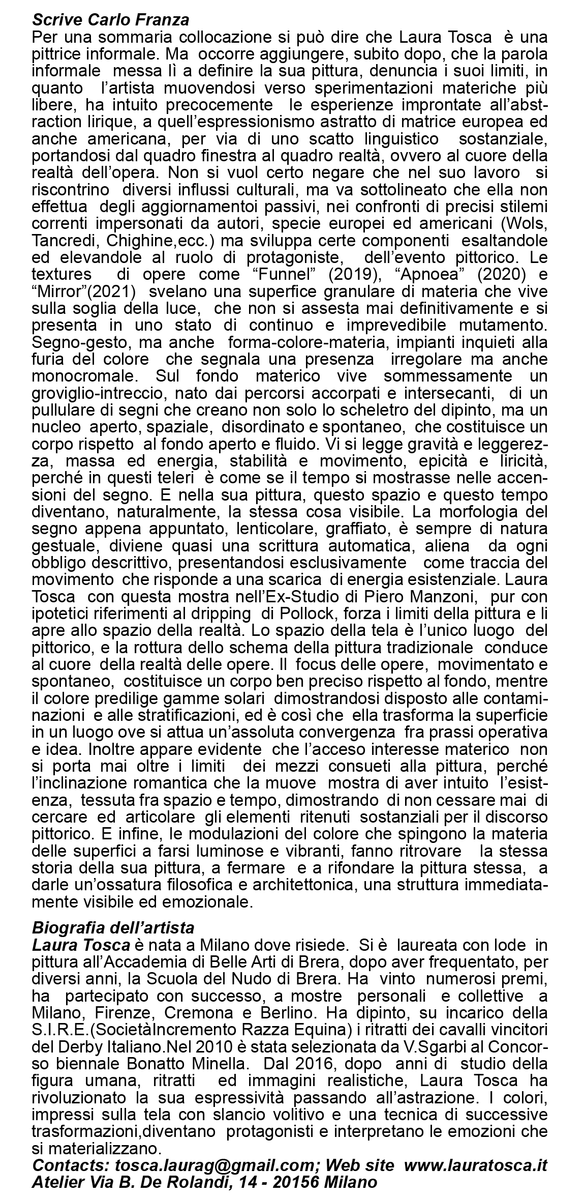 Invito TOSCA-Retro-Studio Manzoni
